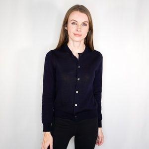 COMME DES GARCONS Knit Blue Button Down Cardigan